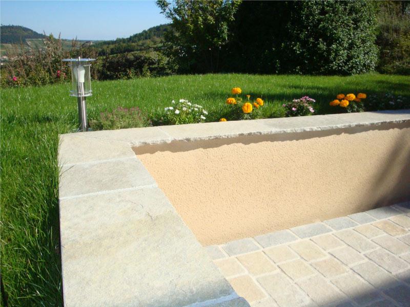Jardin-muret-Calcaire-Castello-Beige